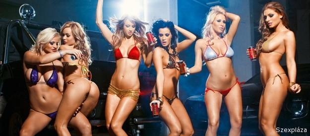 Hat szexi playmate, egy dögös verda és a Playboy naptár