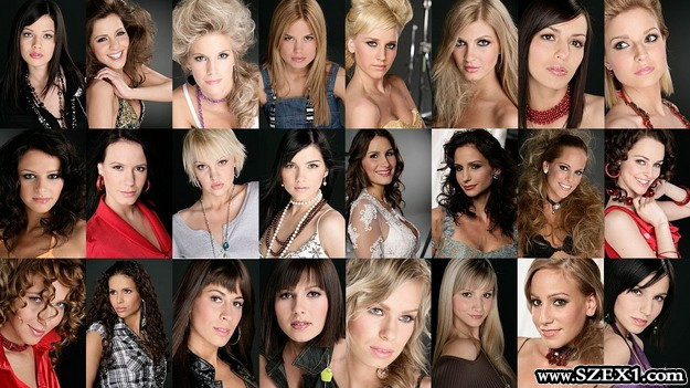 Szépségkirálynő jelöltek modellkártya képek